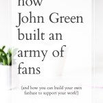 How John Green built an army of fans (and how any writer can do the same!)