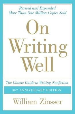 On Writing Well Willian Zinsser book cover