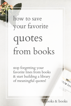 best way to collect quotes from books