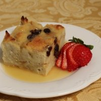 Bread Pudding with Amaretto Sauce