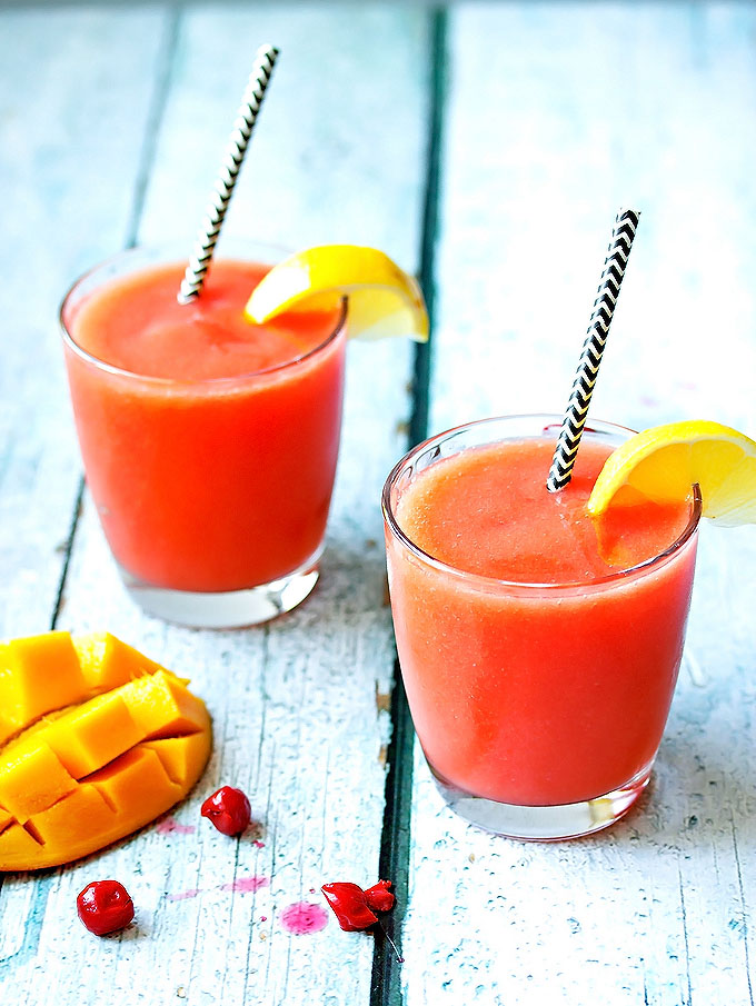 Mango Cherry Rum Slush
