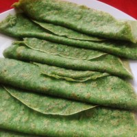 Green watercress Crepes (crepes de agrião)
