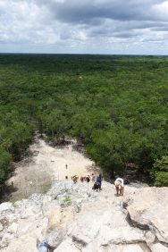 Nohoch-Mul Pyramid view Coba