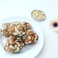 Muffins with banana and cashews  (Queques de Banana e Cajus)