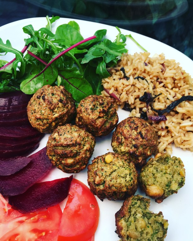Spinach Falafel (falafel com espinafres) vegan