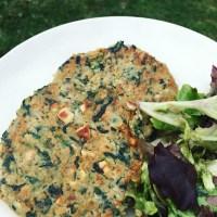 spinach and chickpeas vegan burger (hambúrgueres de espinafres e grão de bico)