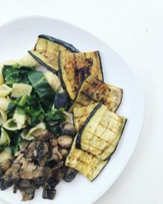 grilled aubergine vegan