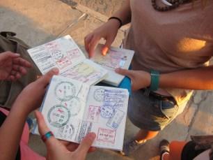 travel passport stamps