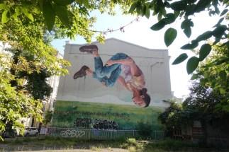 gymnast Kyiv mural