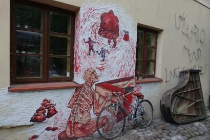 art uzupis murals