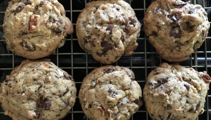 Bittersweet Chocolate Pecan Cookies
