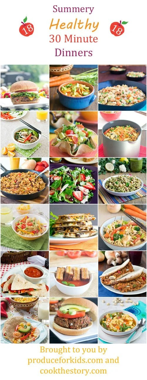 Healthy 30 Minute Meals for Summer