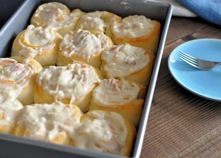 Orange Cream Cheese Cinnamon Rolls