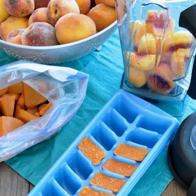 Simple Frozen Peaches