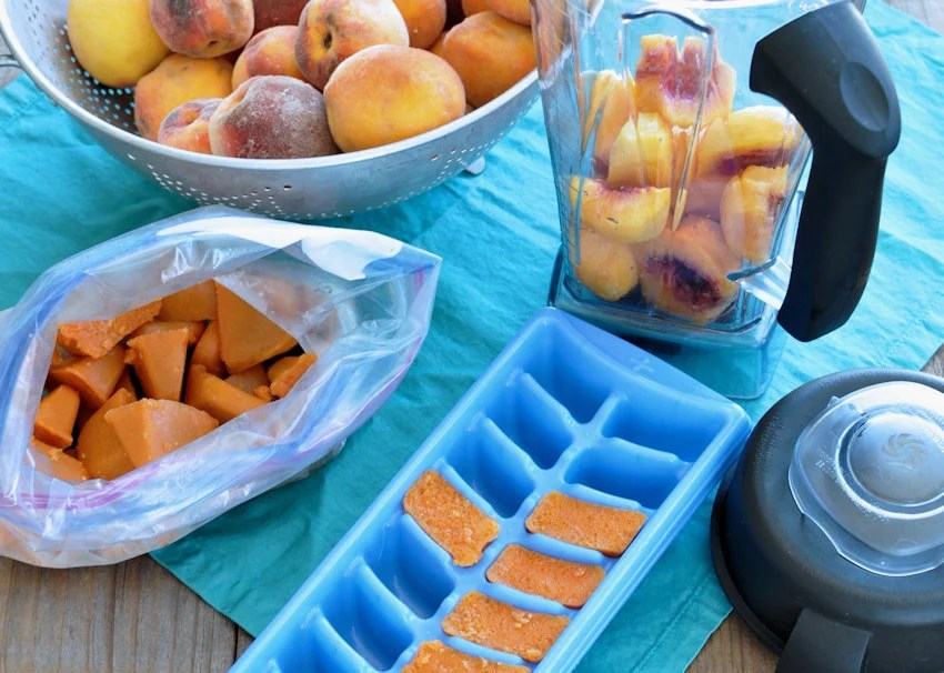 Simple Frozen Peaches