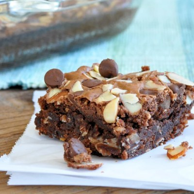Easy Coconut Almond Chocolate Brownies