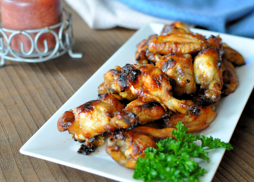 Baked Orange Ginger Chicken Wings
