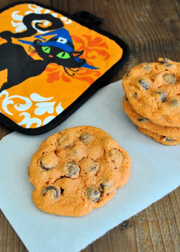 Trick or Treat Chocolate Chip Cookies