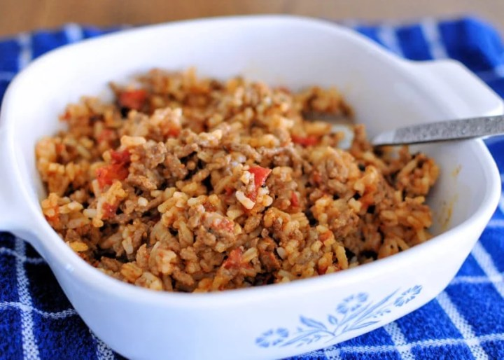Creole Hamburger and Rice