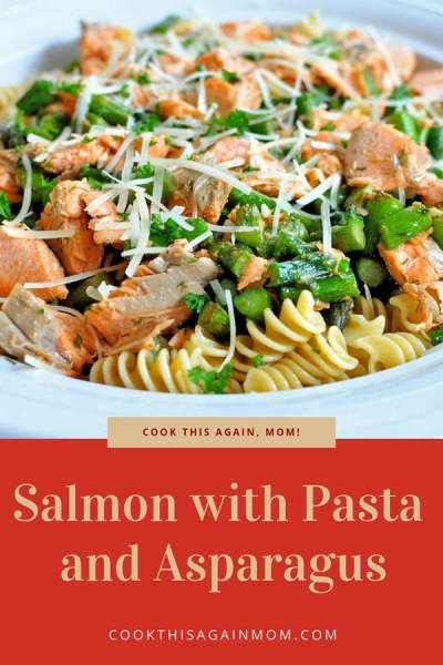 If you would like to try a healthy, simple and delicious meal, give this Salmon with Pasta and Asparagus a try.