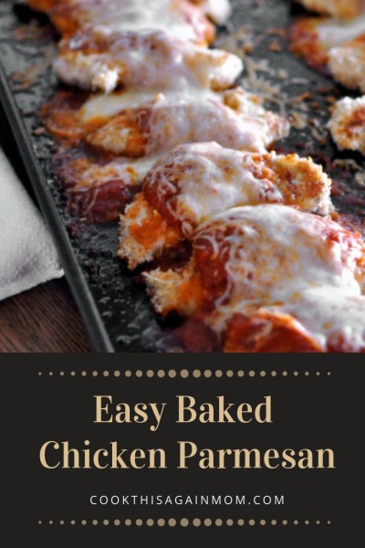 This recipe for Easy Baked Chicken Parmesan has all of my favorite things. First of all, it is super simple to prepare.