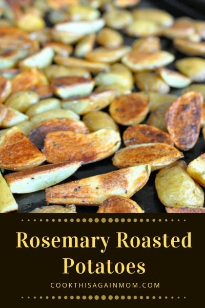 Both of my kids LOVE this recipe for Rosemary Roasted Potatoes. I love how simple they are to prepare. So crispy, and so delicious!