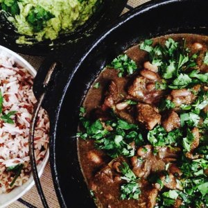 southwest pork and bean stew