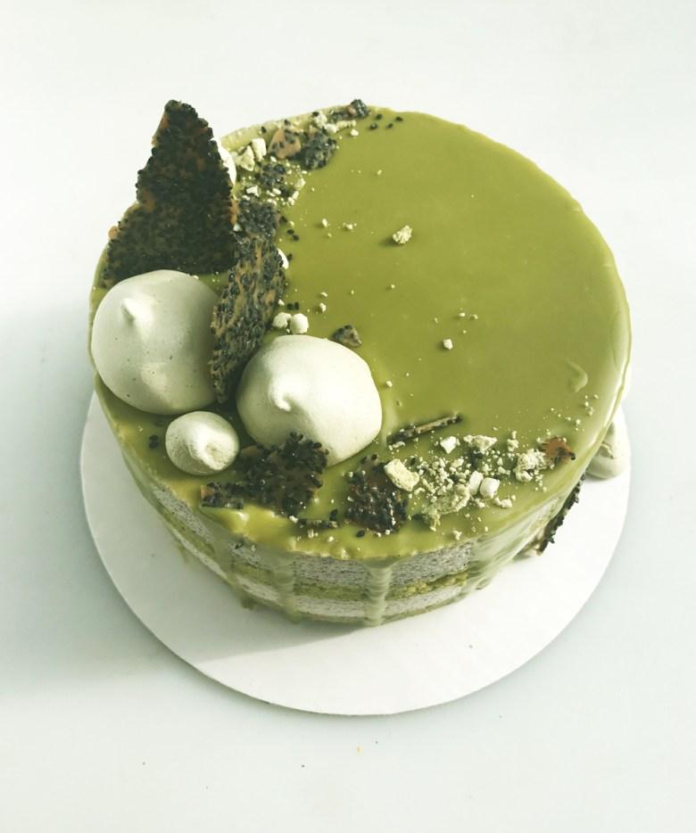 mousse cake angled