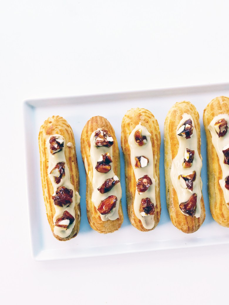 maple eclairs on plate