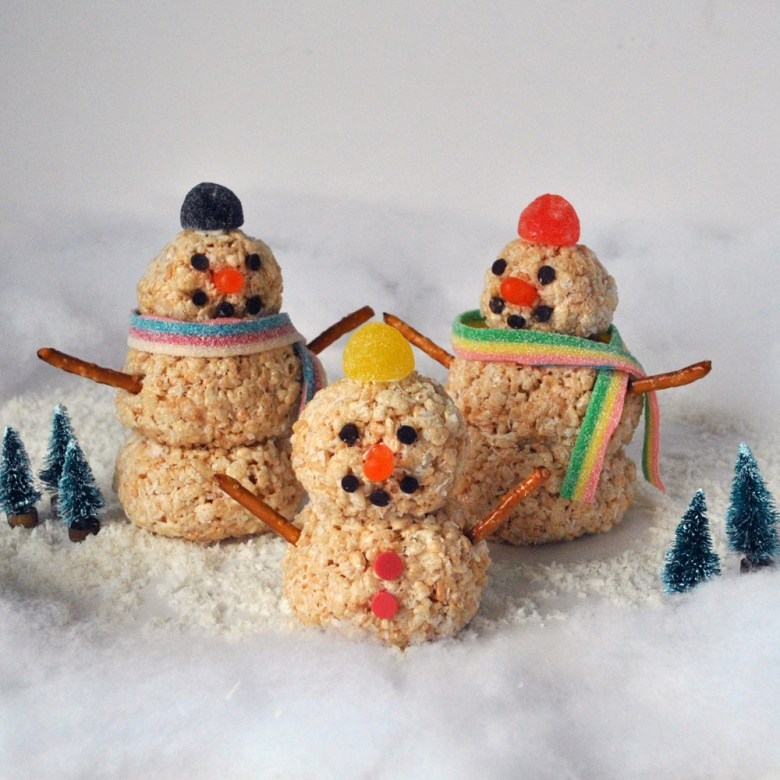 Rice Krispies Snowmen