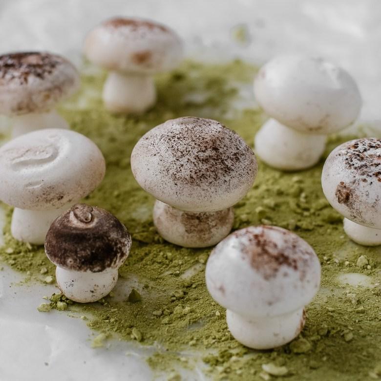 mushroom meringues