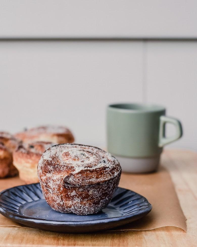 morning bun with coffee