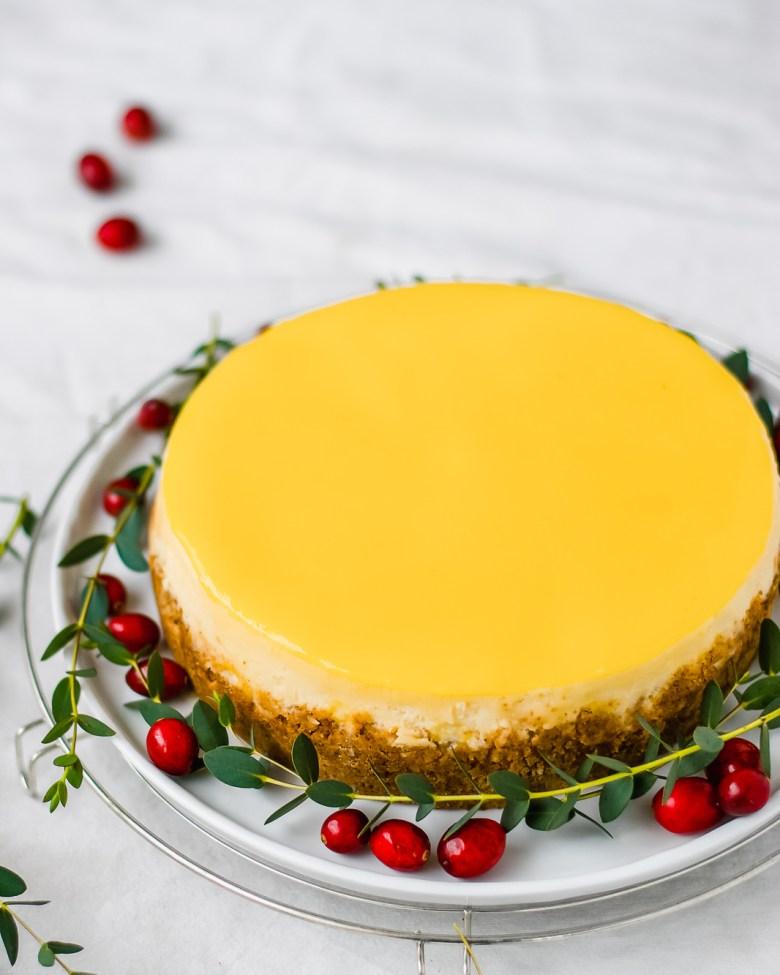 Lime glazed classic cheesecake