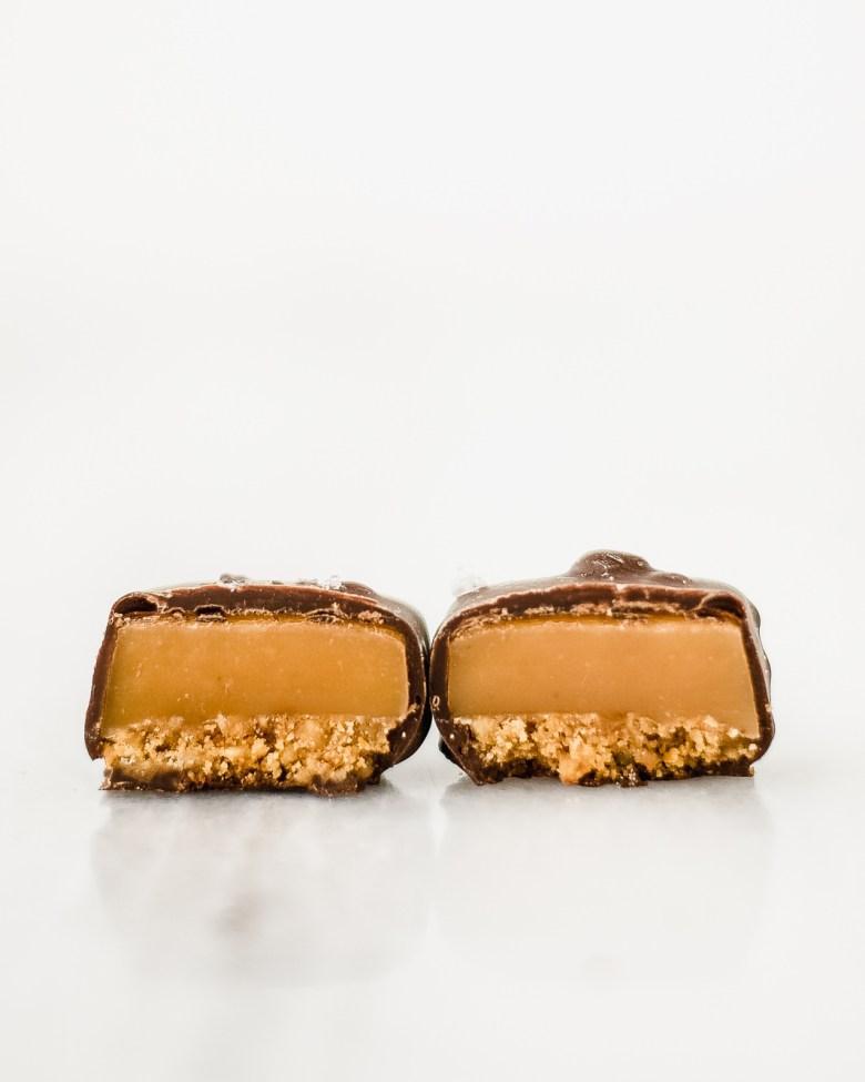 pretzel salted caramel cross section