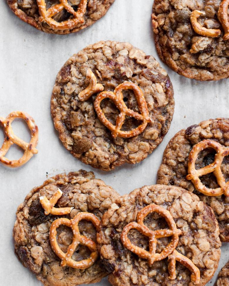 oatmeal raisin pretzel cookies