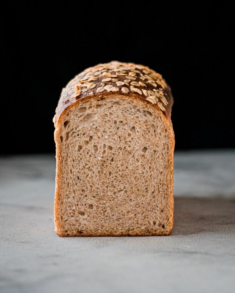 whole wheat sourdough sandwich bread