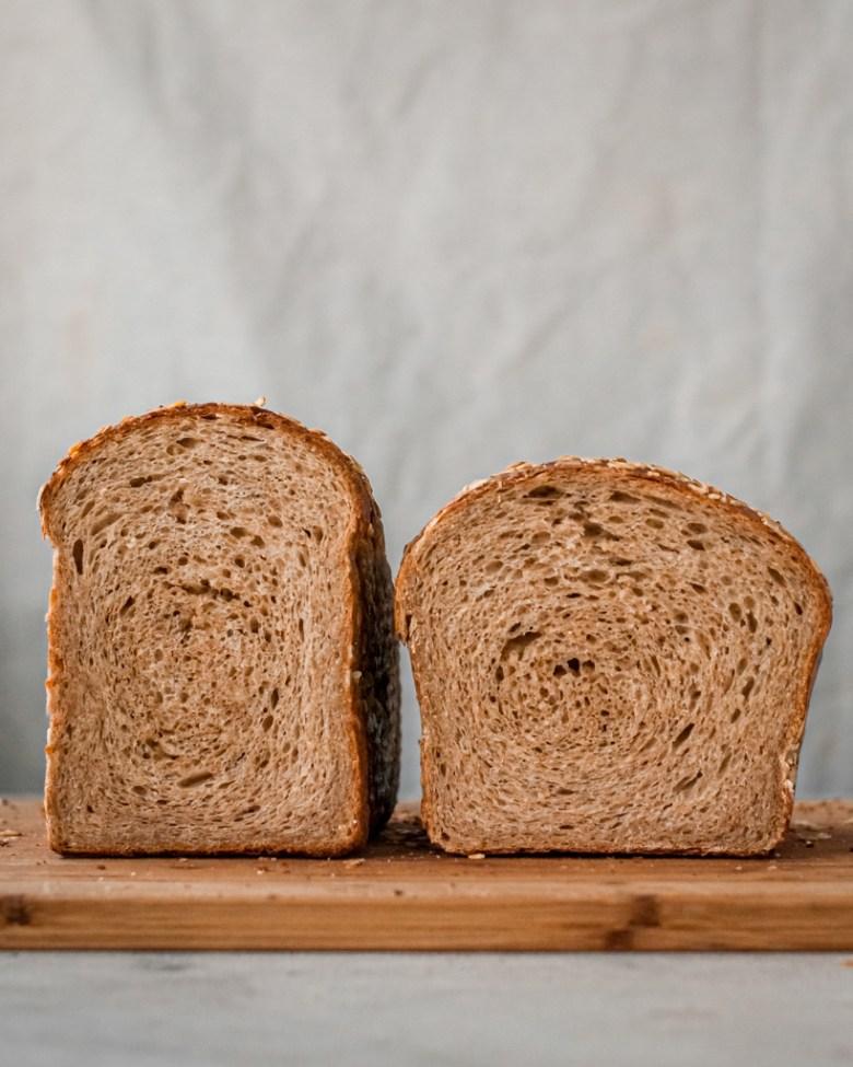 ww sandwich loaf crumb comparison