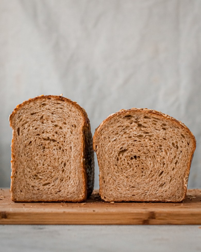 ww sandwich loaf crumb comparison