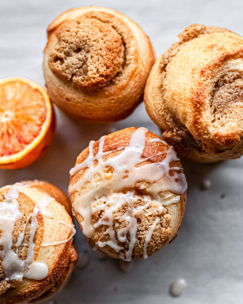 orange and honey frangipane rolls