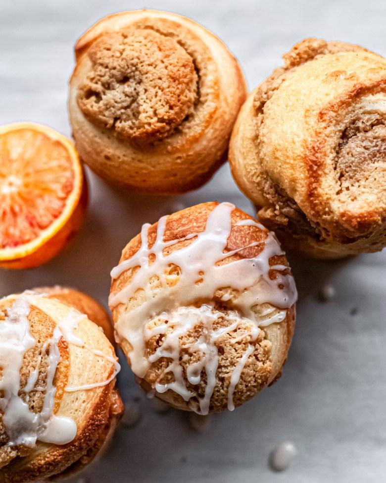 orange and honey frangipane rolls