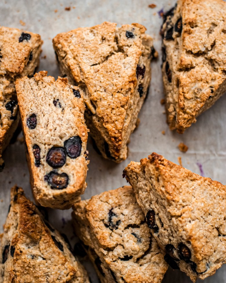 unglazed blueberry rye scones