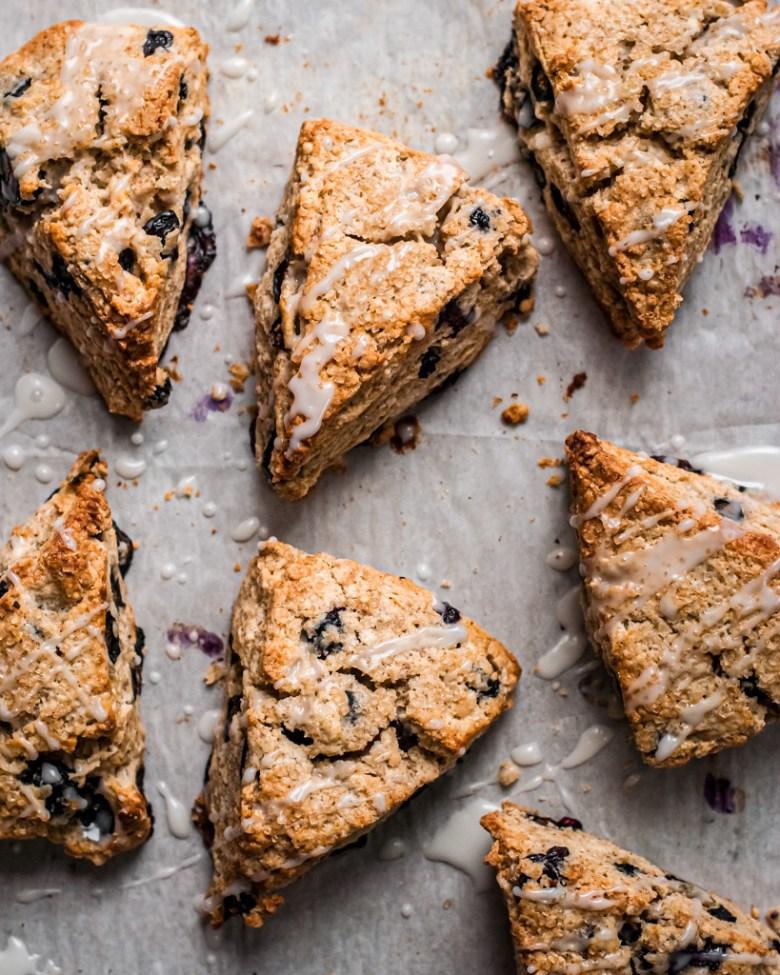 blueberry rye scones
