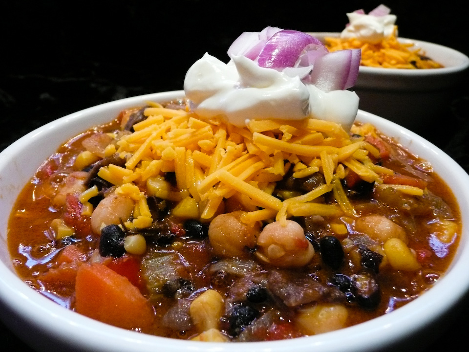 veggie-chili-served