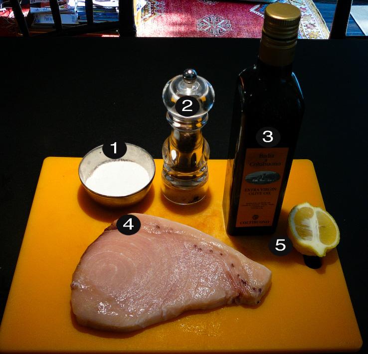 grilled swordfish prep