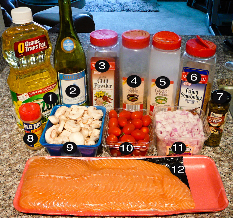 salmon and on and on prep