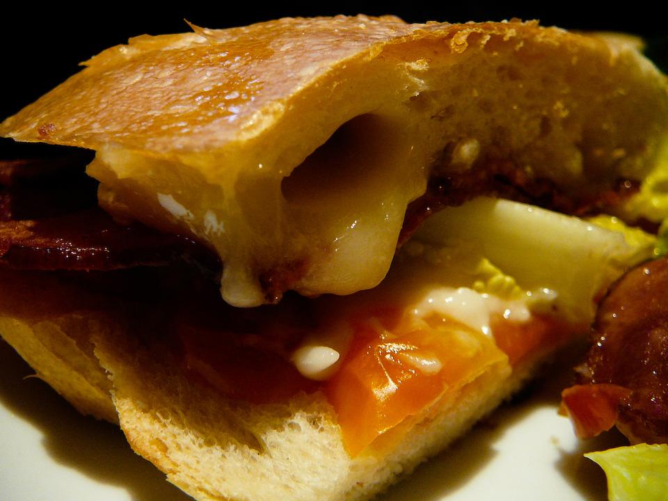 AKA Brie Bacon Lettuce Tomato Sandwich
