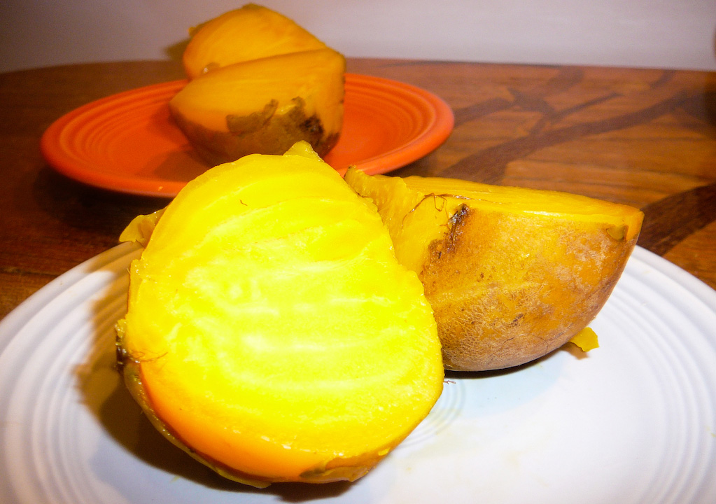 steemed yellow beets