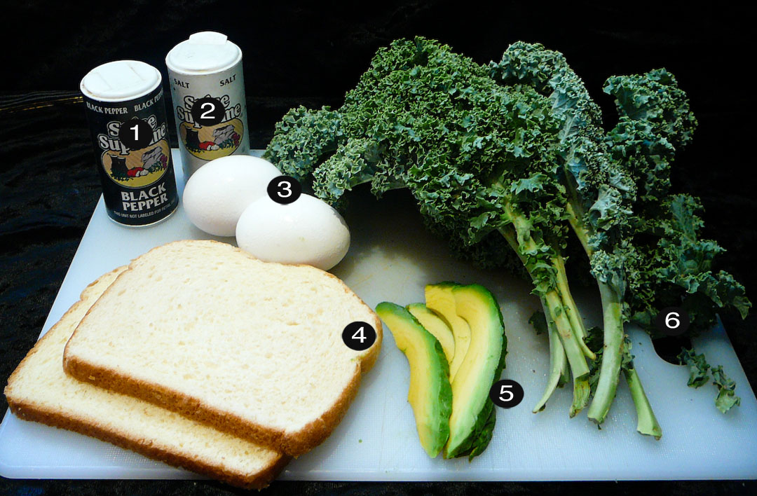 boiled kale breakfast prep