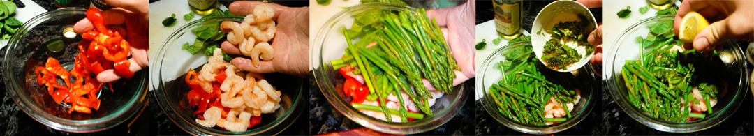 shrimp asparagus salad toss