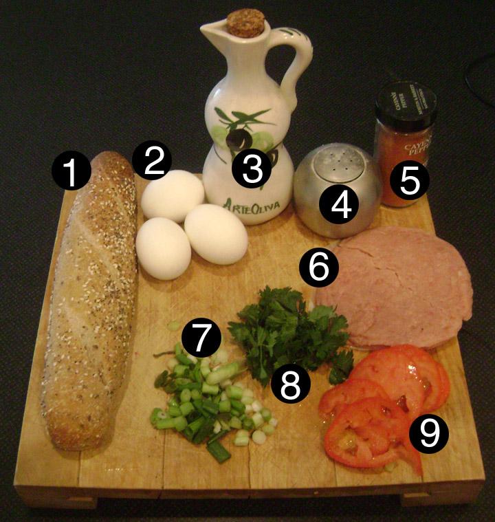 denver egg sinwich prep
